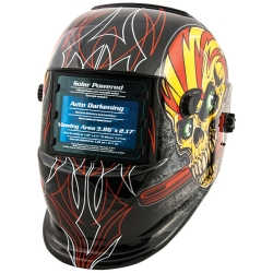 Auto Darkening Welding Helmet - Skull and Pipewrench