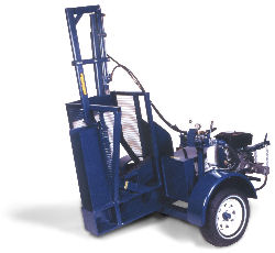 Tire Cutter with Diesel Engine