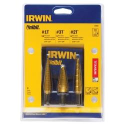 3-Piece Titanium Coated Unibit Set