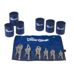 6 Piece Locking Pliers Set with 6 Koozie Cups