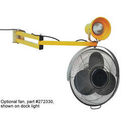Dock fan on extending arm